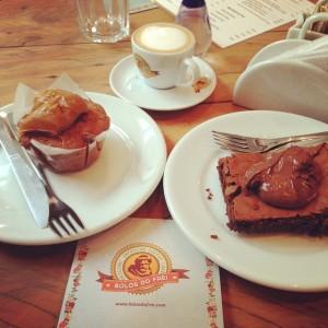 Meus escolhidos: muffin de banana e o tão procurado brownie de nutella
