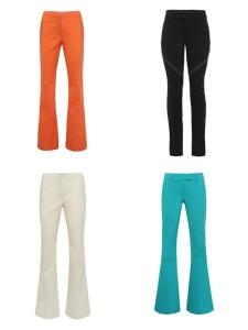 Também sou suspeita para falar de calças coloridas (tenho vááárias). As flares vão sair R$ 129 e a legging, que já é meu xodó, R$ 99.
