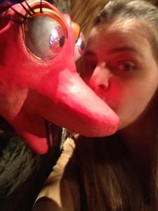 É quase obrigatório fazer uma selfie com a cobrinha Celeste (minha personagem favorita)