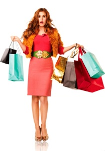 Nossa amiga Becky Bloom lembra: compras em excesso podem fazer mal
