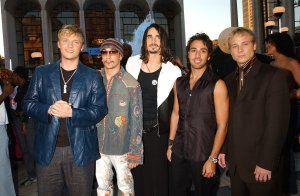 Nossos musos muito mais novos em 2001, quando fizeram os primeiros shows no Brasil