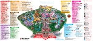Mapa de todo o parque. Olha só como tem bastante coisa para fazer lá
